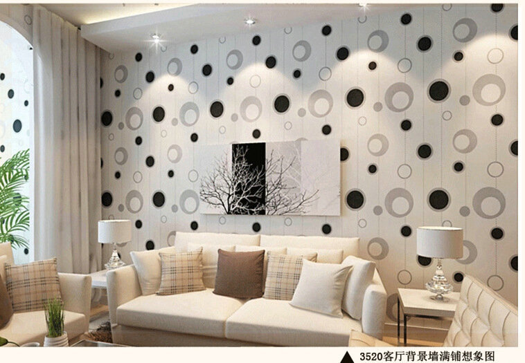 Aliexpress Com Buy Pvc Wallpaper Television Background Wallpaper Modern Bedroom Circle Clothing Store Decoration Wallpapers Roll Wall Paper Pink Wa From