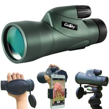 12x55 High Definition Monocular Telescope and Quick Smartphone Holder
