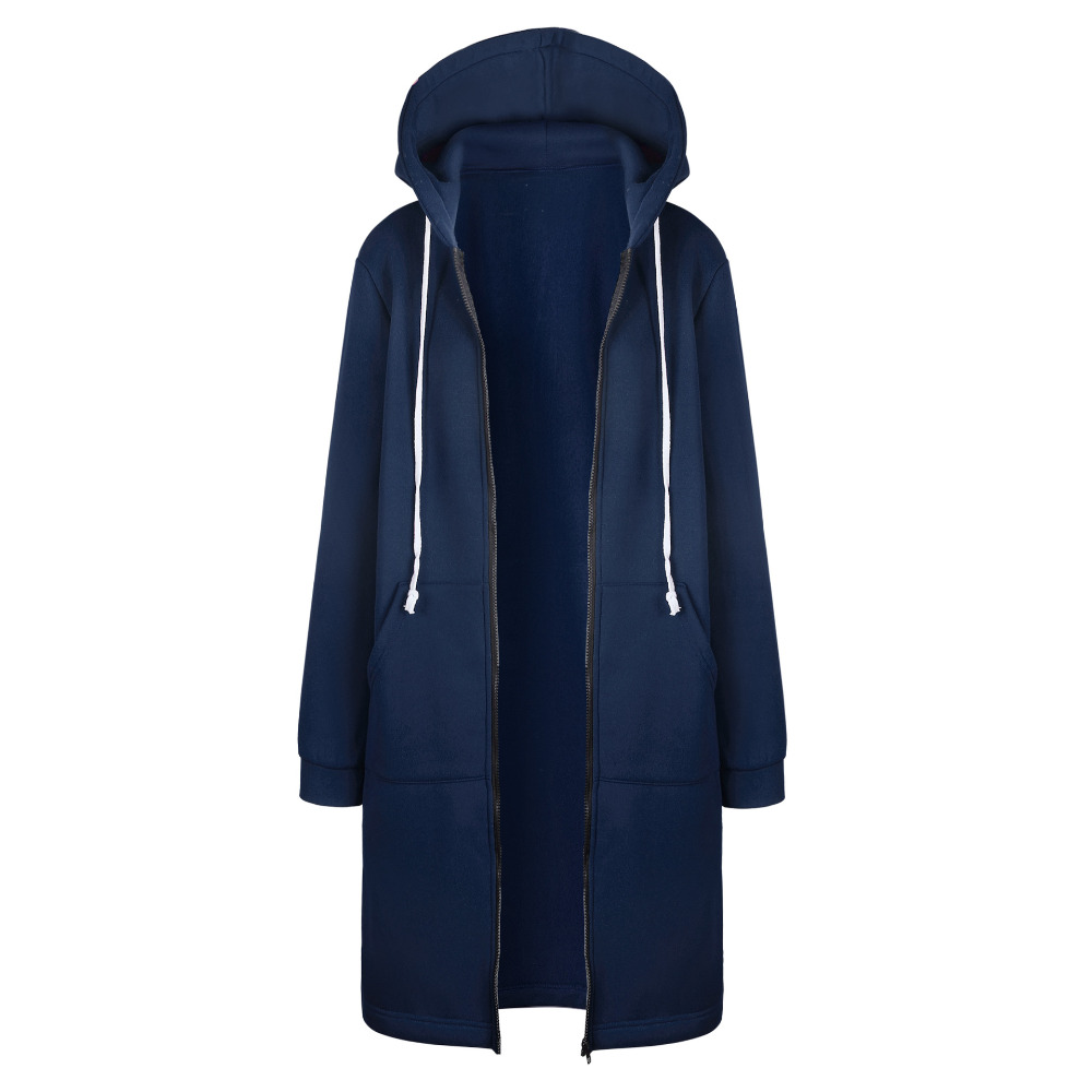 Women Warm Winter Fleece Hooded Parka Coat Overcoat Long Jacket Women Outwear Zipper Female Hoodies S-5XL plus size sweatshirt
