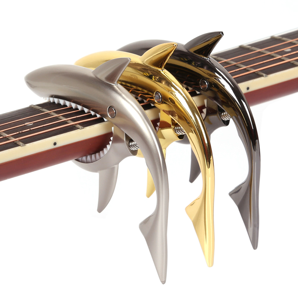 New Arrival Shark Guitar Capo For Electric Acoustic Folk Guitar Accessories Musical Instrument shark capo for acoustic electric classical guitar zinc alloy musical instrument guitar accessories gc 30