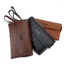 все цены на Business Crocodile Pattern Long Wallet Men Handbag Large Capacity Clutch Fashion Multifunction high quality PU Leather Phone Bag онлайн