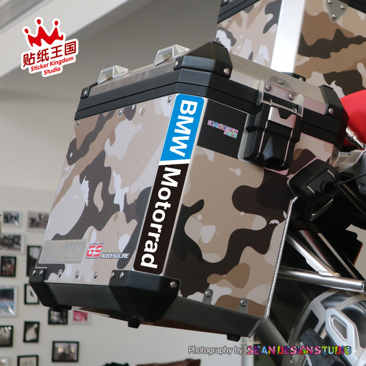 For BMW F700GS F800GS R1150GS R1200GS ADV Motorcycle Reflective Decals Top Case Waterproof Stickers 24