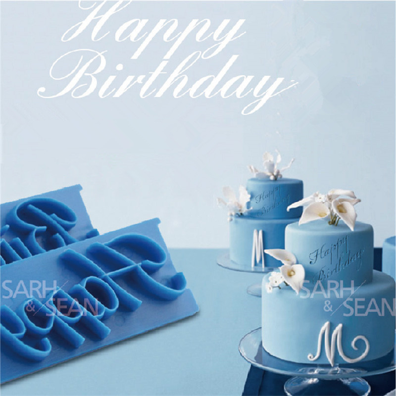 SLH175 English Letters Best Wishes Happy Birthday Congratulations Anniversary Biscuits Cutters for Kicthen Baking Tools