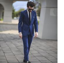 New Arrival formal blue wedding suits for men high quality custom men suits notched lapel groomsmen formal occasion men suits