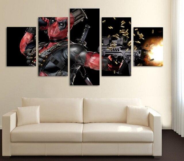 5 Stücke Deadpool Filmplakat Wandkunst Bild Moderne Dekoration ...