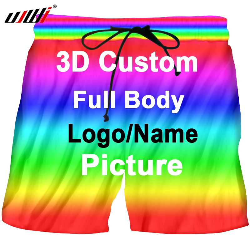 UJWI Summer Casual Breathable Beach Shorts Men Print 3d Printing Clothing Manufacture Dropshipping