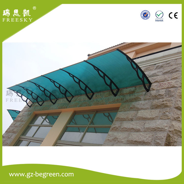 YP100360 100x120cm 100x240cm 100x360cm rain shelter PC window canopy polycarbonate awning with outdoor canopy metal roof & YP100360 100x120cm 100x240cm 100x360cm rain shelter PC window ...