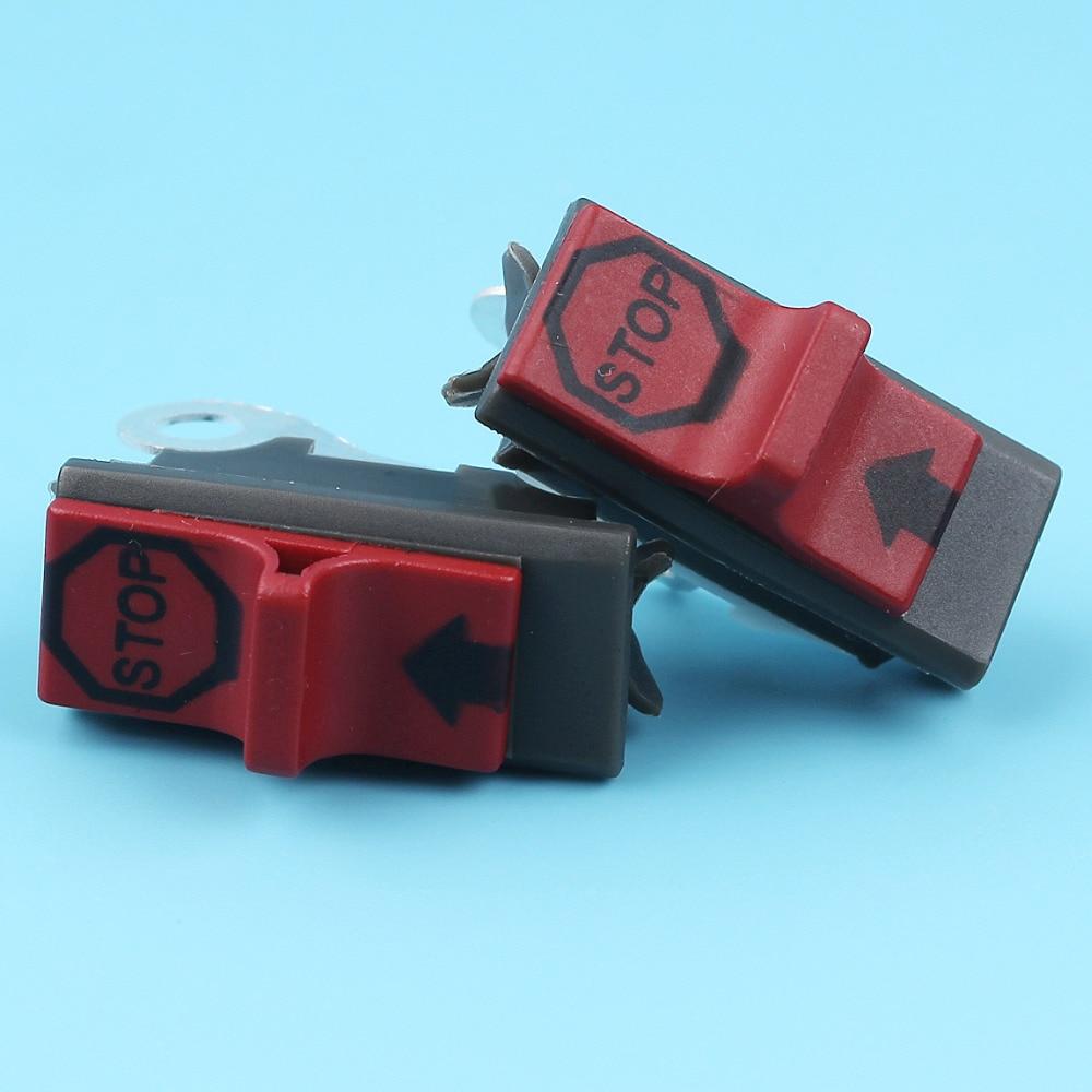 2pcs/lot On/off Kill Stop Switch Fit Husqvarna 55 142 137 254 257 261 262 268 272 281 288 394 3120 Chainsaw #503717901 NEW Parts