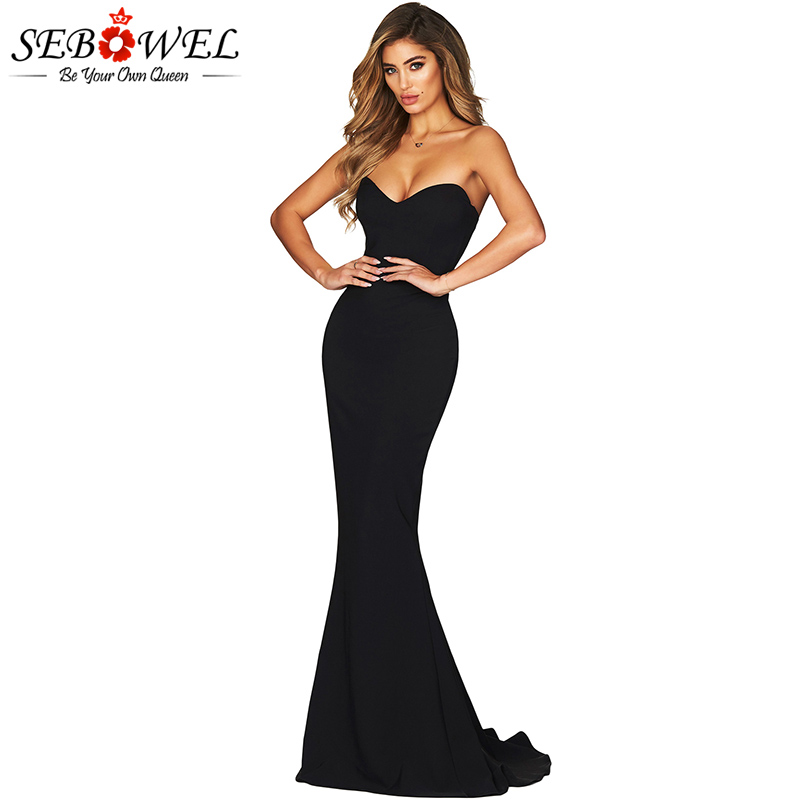 Black-Strapless-Sweetheart-Neckline-Mermaid-Gown-LC610868-2-4