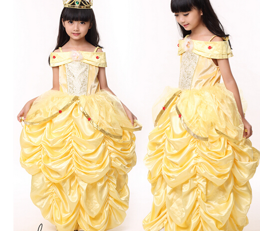princess belle Halloween Beauty and the Beast Costume kid child Girl 100-140cm gifCostume Suit  sc 1 st  AliExpress.com & princess belle Halloween Beauty and the Beast Costume kid child Girl ...