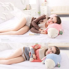 Cute 97cm Giant  Stuffed Sleepy Sheep Toy Soft Plush Sheep Doll Pillow Home Cushion for Gifts