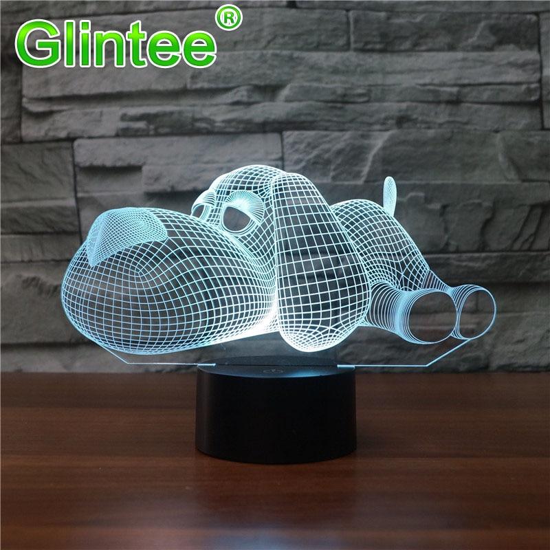 Navidad luces 3D LED noche luz lámpara iluminación de acrílico táctil USB luminoso novedad regalo 7 cambio de Color lámpara de mesa Cristo regalo