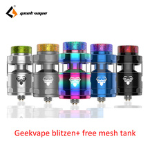 Big sale  GeekVape Blitzen RTA hugo vapor E-cig atomizer postless build deck smooth airflow PK ammit dual coil and zeus RTA