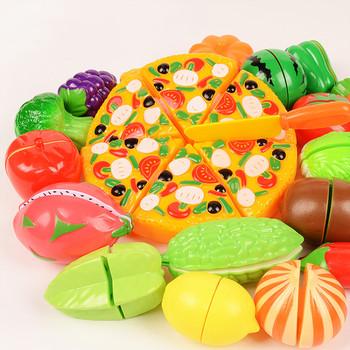 Gorąca sprzedaż plastikowe zabawki kuchenne jedzenie owoce warzywa cięcie dzieci udawaj zagraj w zabawki edukacyjne bezpieczeństwo zabawki kuchenne dla dzieci zestawy tanie i dobre opinie ZIN TUNG Z tworzywa sztucznego Zabawki kuchenne zestaw Don t Eat Unisex 3 lat Kuchnia 1 12 shuiguo