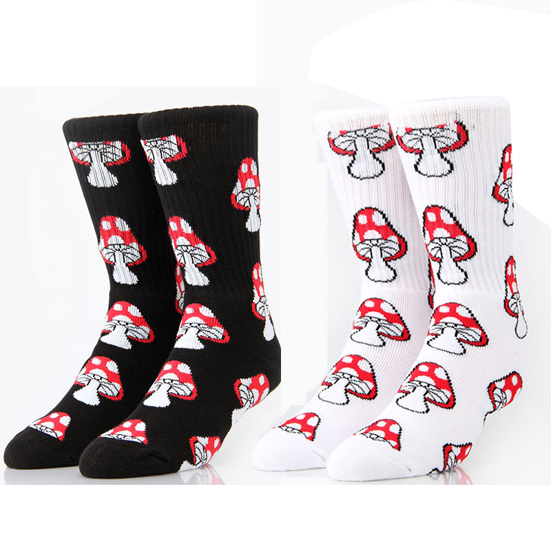 Fashion Cartoon Retro Mushrooms   Socks   Men Women High quality Cotton Elite Hip Hop Weed   Socks   men's Brand   socks