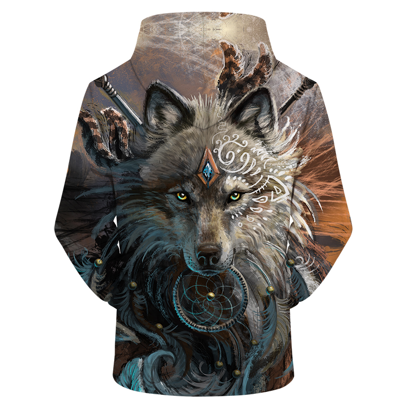Wolf Warrior 3D Hoodies
