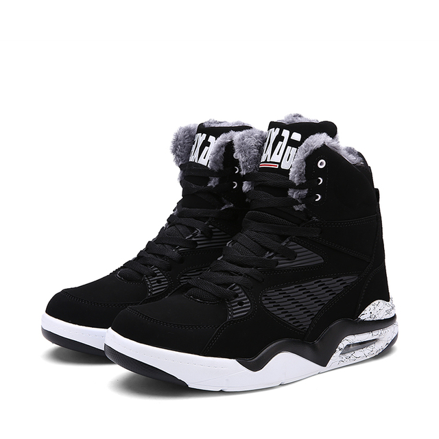 6ec38458401d05 Basketball Shoes Men Sneakers Lebron James Shoes High top Lace up Ankle  Shoes Air cushion Shockproof basket homme baloncesto