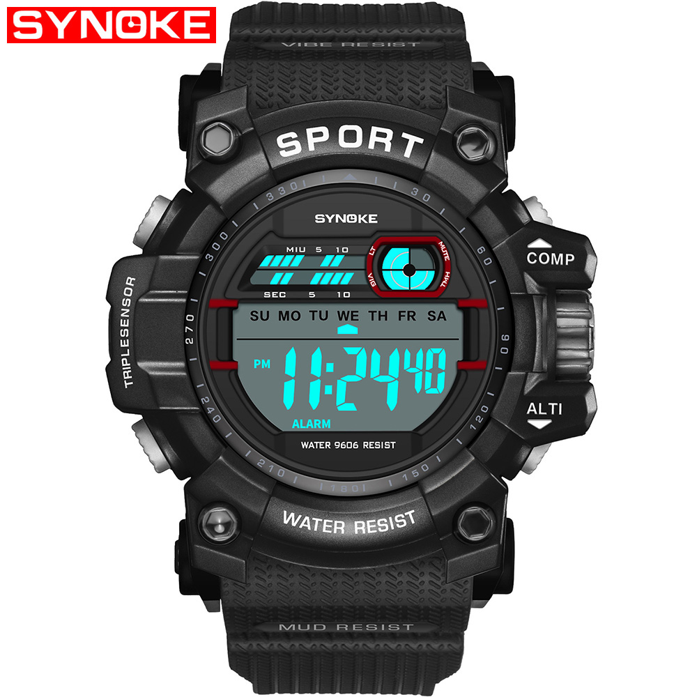 Digital Watches Men's Watches New Brand Outdoor Sports Compass Watches Hiking Men Watch Digital Led Electronic Watch Man Sports Watches Chronograph Men Clock And To Have A Long Life.