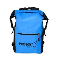 Открытый камуфляж Портативный Дайвинг рафтинг сухой мешок ПВХ Водонепроницаемый складной плавательный рюкзак сумка для реки походная 25L