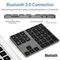 Bluetooth мини-кнопочные панели  алюминиевая беспроводная цифровая клавиатура  BT Pad  34 клавиши  внешний номер клавиатуры  ярлык