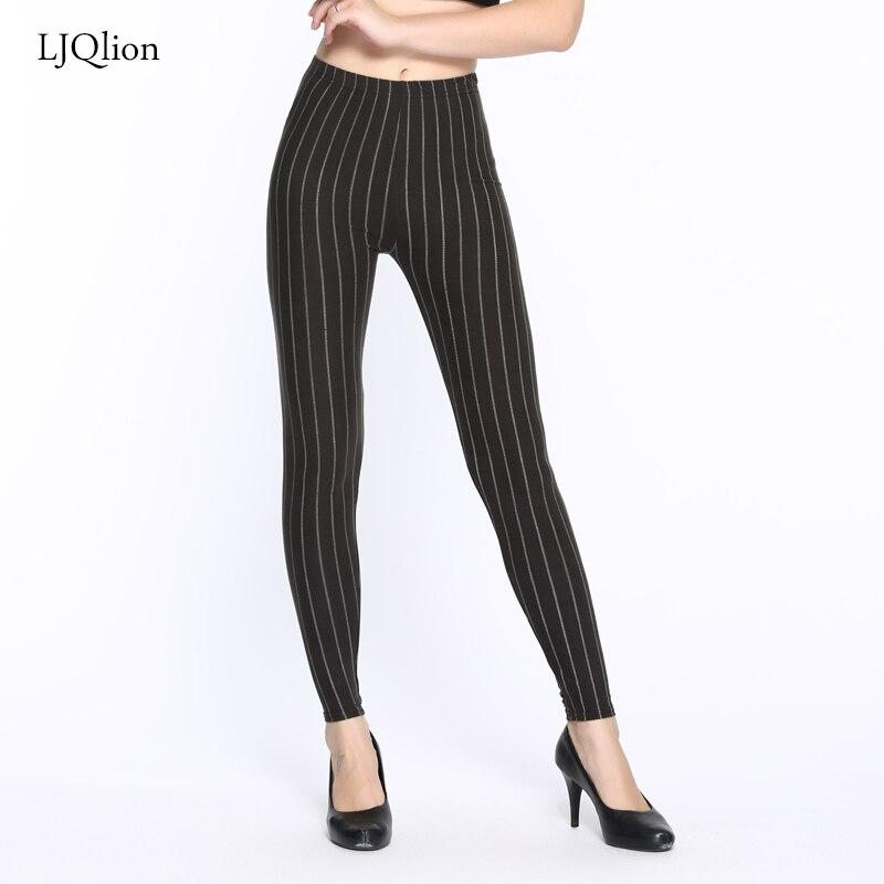 LJQlion 2018 Fashion camouflage leggings Striped Printing leggings Fitness Slim leggins Trousers Woman Pants