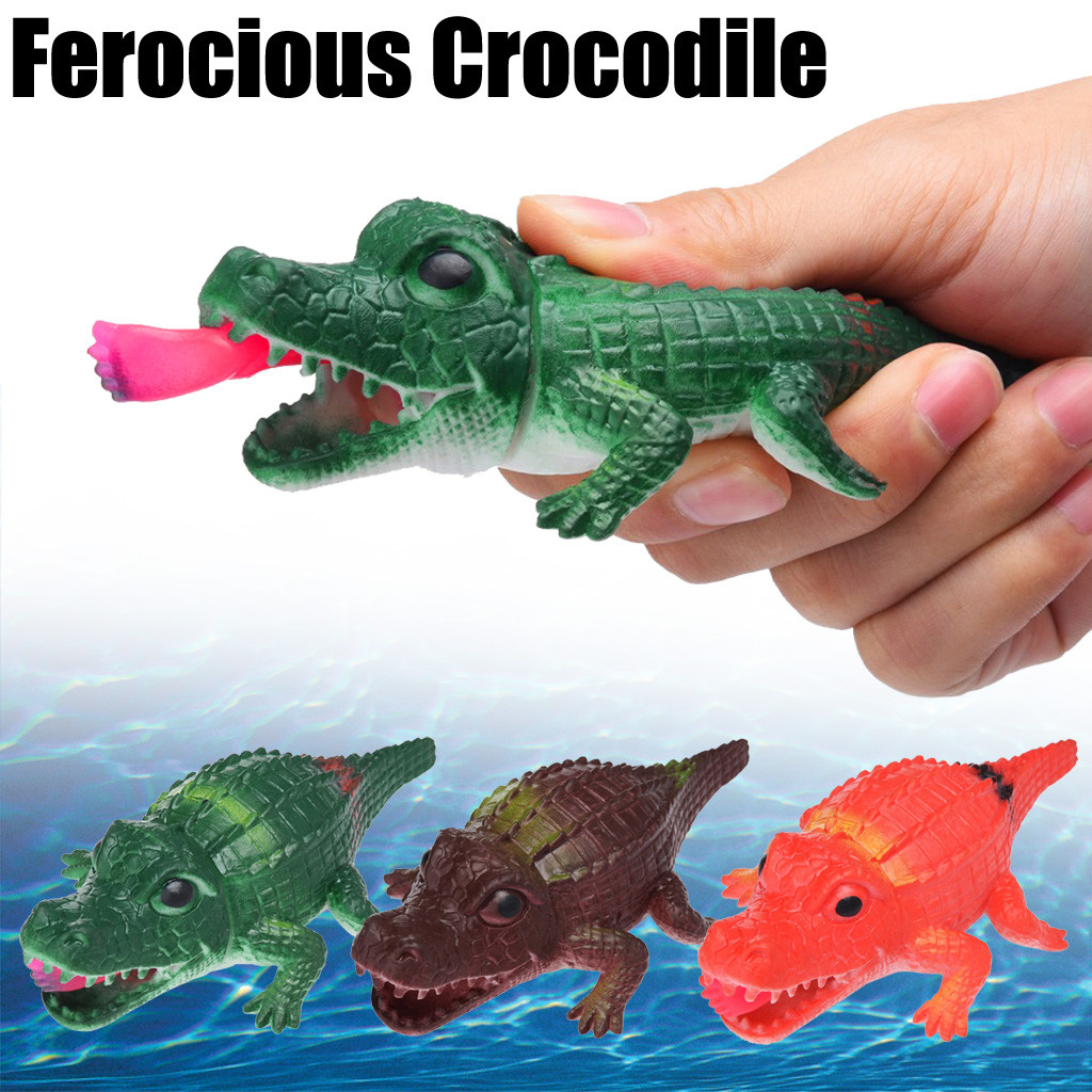 Crocodile Pops Out Leg if Squeeze 14cm Stress Relief Funny Toys 1