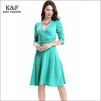 Flared Knee Length Dresses