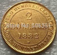 1882 H Canada 2 Dollars Gold Coins Copy Free Shipping