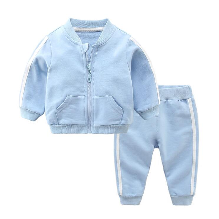 2018 infant Sports costume for baby boys costumes coat + pant baby sets casual outerwear baby girl clothing newborn boy jacket