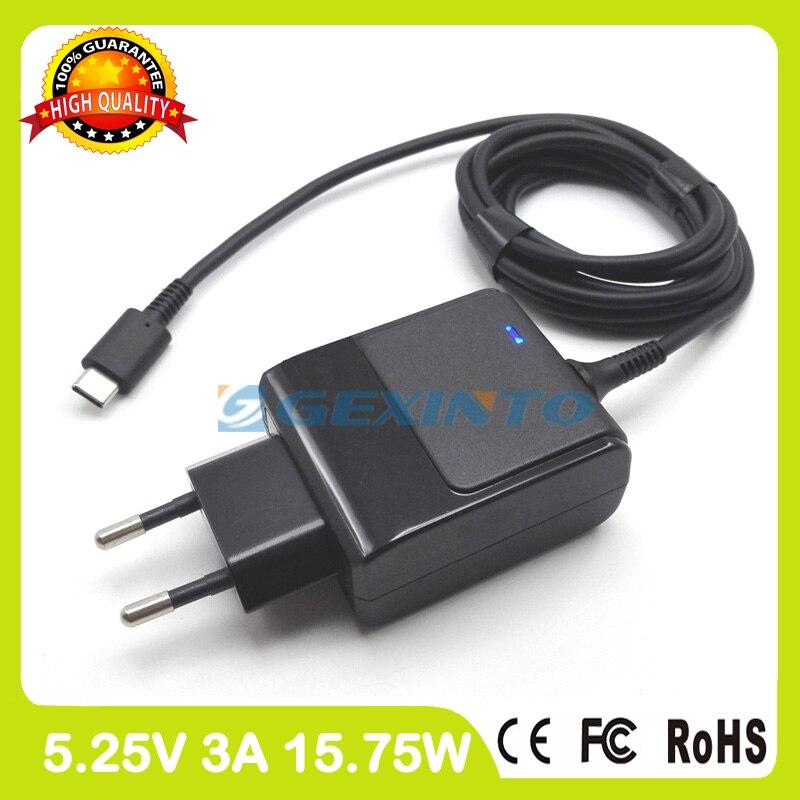 5.25 V 3A USB-C TYPE-C ordinateur portable ac adaptateur Pour HP Pro 608 G1 Tablet pc chargeur TPN-LA01 792584-001 792619-001 PA-1150-23HA L'UE Plug