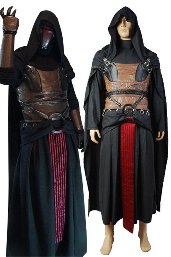 Star Wars Sith Dark Lord Darth Revan Outfit Uniform Cosplay Costume Cape Robe Full Sets