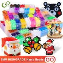 5mm highgrade hama beads perler beads foodgrade hama fuse beads kids toys educational diy christmas new - Perler Beads Christmas
