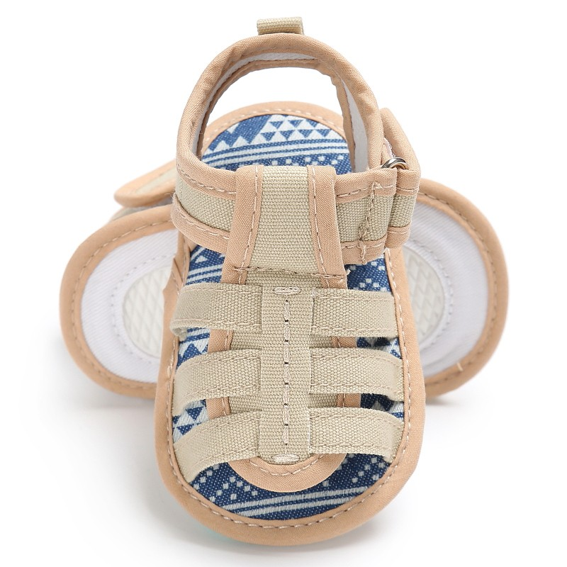 WEIXINBUY 2017 Summer Baby Casual Shoes Male Soft Canvas Sandals Baby Toe Cap Covering Boys Sandals