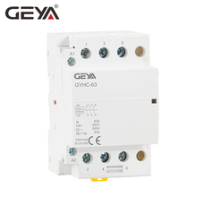 все цены на Free Shipping GEYA GYHC 220V 3P 63A 3NO AC Contactor Din Rail Household Contactors AC Automatic Switch онлайн