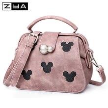 2016 Fashion Women Character Messenger Bags Minnie Mickey shoulderBag Leather Handbags Clutch Bag Bolsa Feminina mochila Bolsas