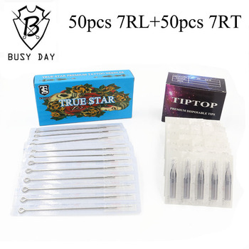 (7RL+7RT) 50pcs True star tattoo needles & 50pcs TIP TOP tattoo tips for free shipping