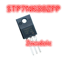 10pcs STP7NK80ZFP TO-220F P7NK80ZFP TO-220 STP7NK80 7A 800V 7NK80 TO-220F new original k08f655 to 220f