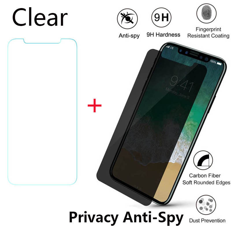 NEWEST Premium Guard Shield Film Clear / Privacy Anti-Spy Tempered Glass For iPhone X ls2 helmet