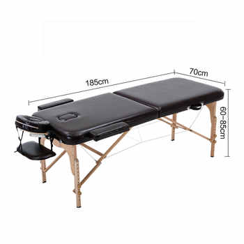 Folding Beauty Bed 185cm length 70cm width Professional Portable Spa Massage Tables Foldable with Bag Salon Furniture Wooden