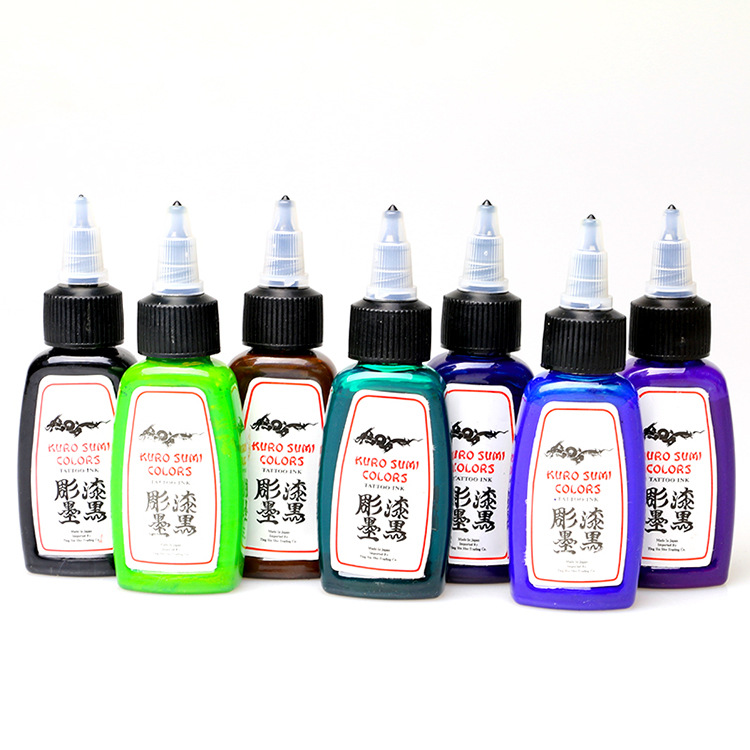 Großhandel Tattoo liefert dauerhafte Tinte der amerikanischen Marke 14 Farbe Tätowiertinte 1/2 Unze 15ml
