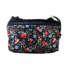 Fancy Flower Camera Lens Pouch Protection Inner Case Shockproof Partition Padded Camera Insert Cushion Bag(China)