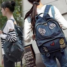 Мешок снова 021317 новый горячий леди джинсовой рюкзак женский случайные сумка