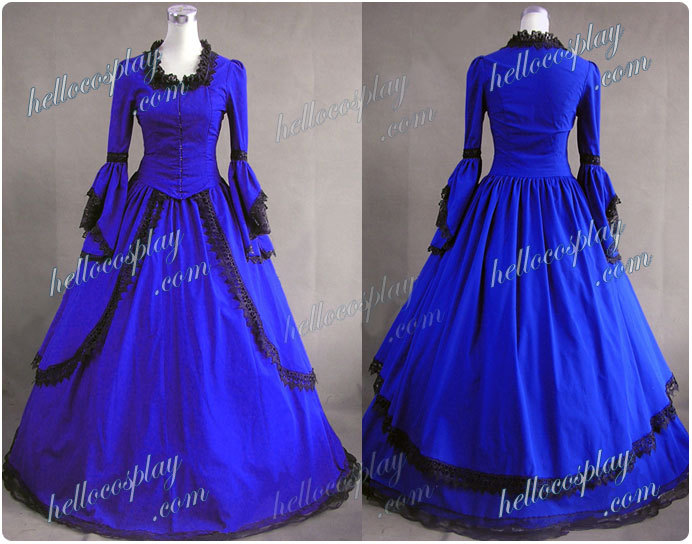 Marie Antoinette Victorian Dress Ball Gown Prom H008