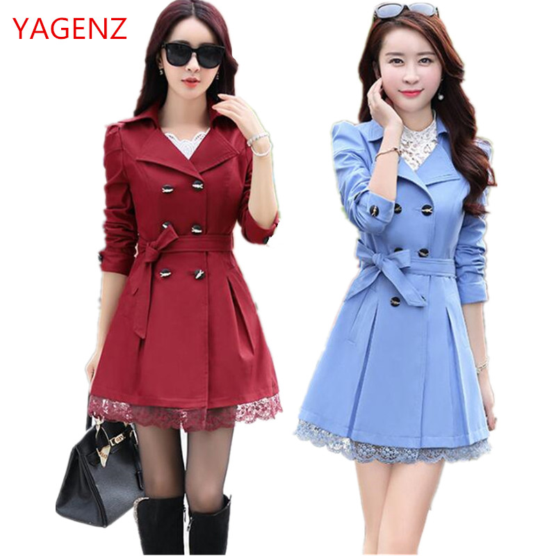 Fashion Woman Coat Long-Sleeve Korean-Style Autumn Womens Plus-Size South for K3506 High-Quality