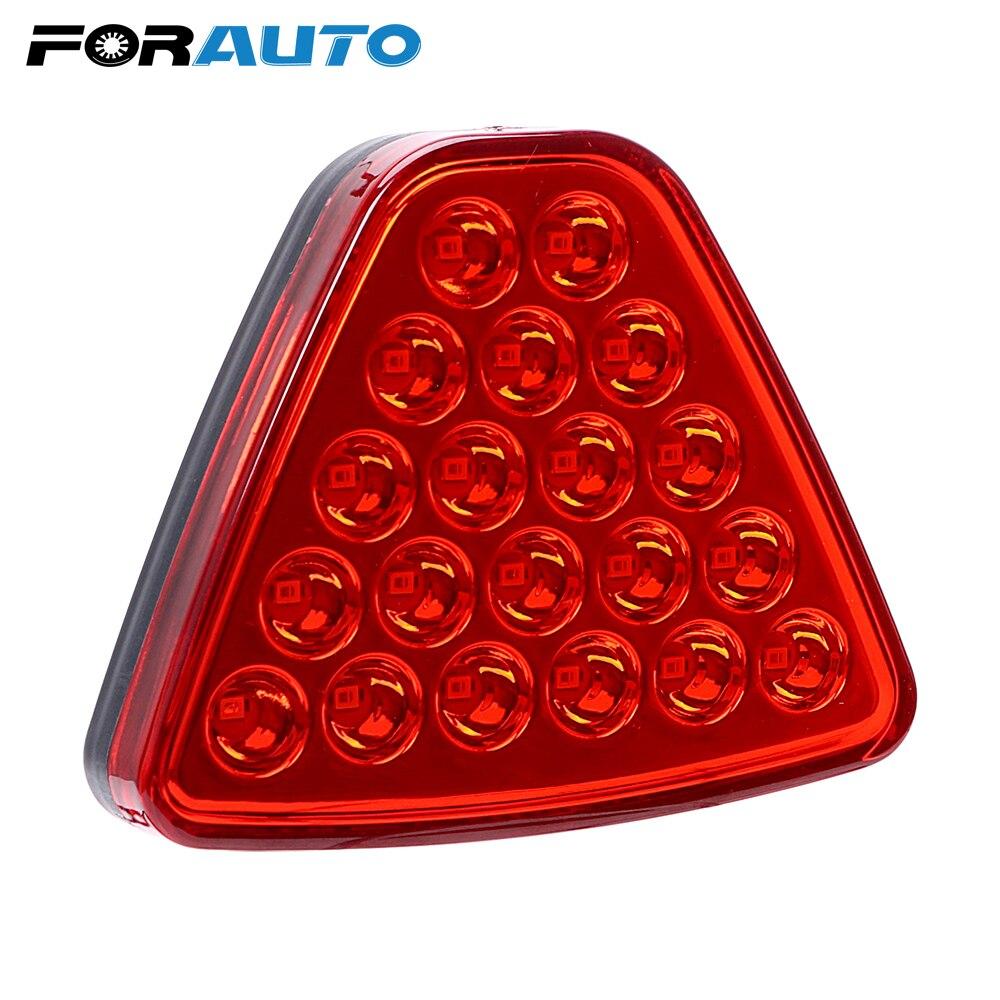 Светодиодный стоп-сигнал FORAUTO, треугольная вспышка, стробоскопические лампы 20 светодиодный s 12, автомобильные аксессуары