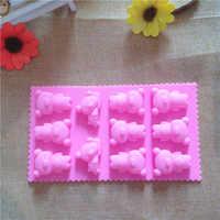 Moldes De silicona render Para Bolo silicona Rilakkuma KUMA oso Cube De hielo caja De Chocolate Moldes Para gelatina molde Para pastel De caramelo