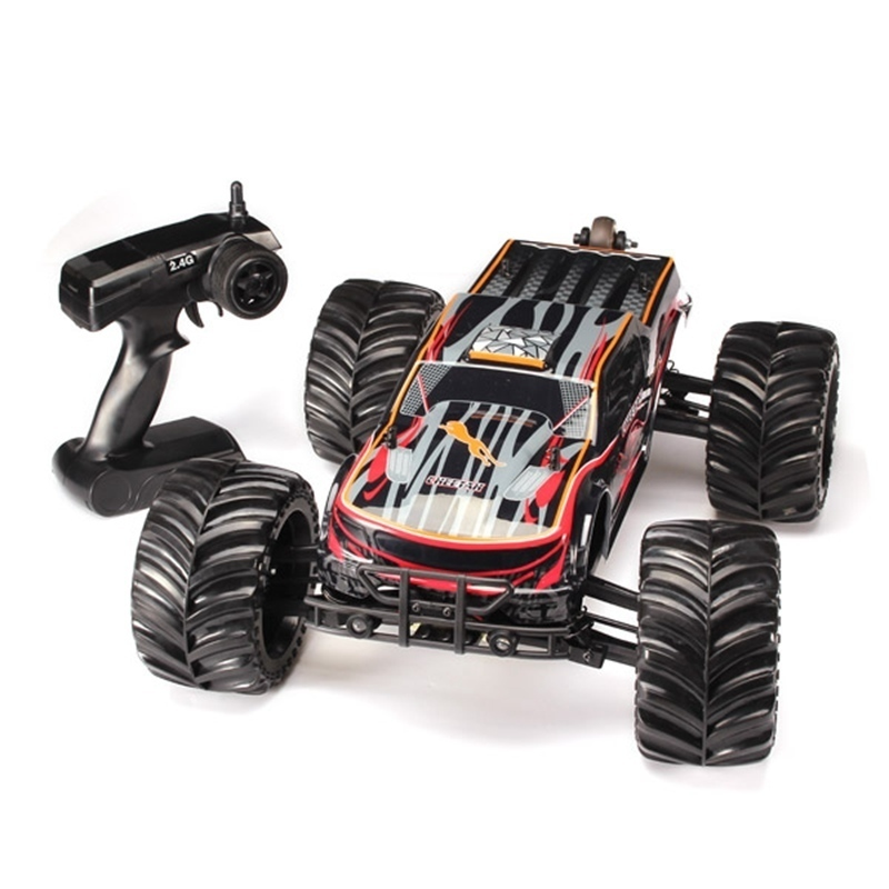 High Speed JLB Racing CHEETAH 1/10 Brushless RC Remote Control Car Waterproof Motor And ESC Monster Buggy Big Foot Trucks RTR jlb racing cheetah 1 10 brushless rc car truggy 21101 2pcs wheel