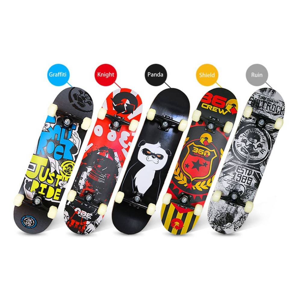 Four-wheeled Skateboard Maple Wood Material Freestyle Skateboard Skate Deck Long Board C ...