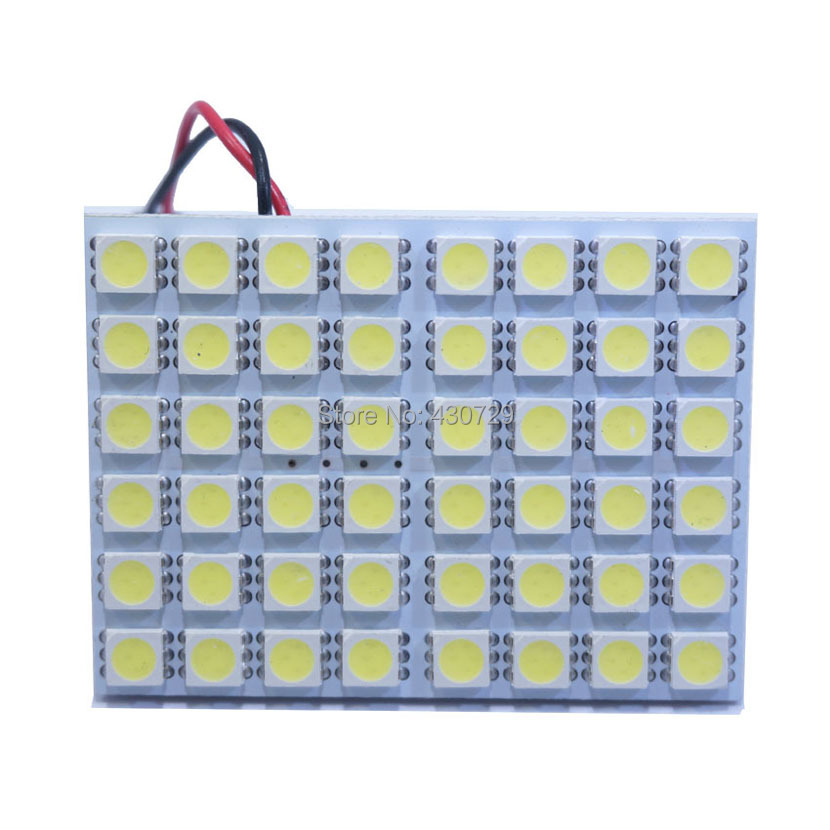 2 sets 2013 New T10 Festoon BA9S 3 Adapters 48 SMD 5050 white Light Ultra Bright  12V LED reading Panel Car interior Dome Lights