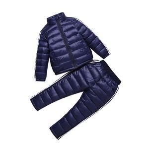 Image 2 - חורף ילדים אימונית אופנה מעיל + מכנסיים ילדים די שחור ספורט חליפת עבור בנות 6 7 8 9 שנים סתיו בני בגדי סט אדום